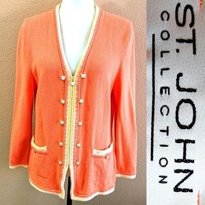 ST.JOHN COLLECTION Knitted JACKET v-neck